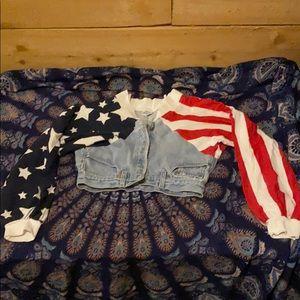 Fredericks of Hollywood x Levi's USA jacket. S/M